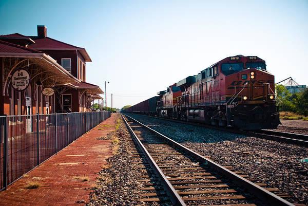 Ok Wall Art - Photograph - Old Santa Fe Depot by David Waldo