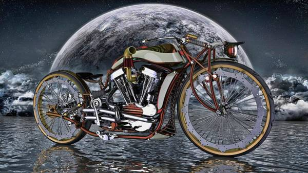 Wall Art - Photograph - Old School Cafe Racer by Louis Ferreira