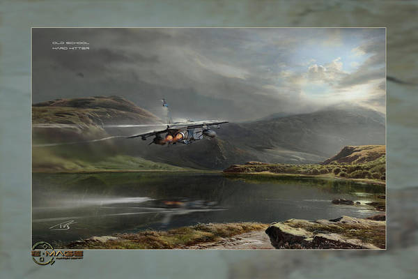 Supersonic Speed Wall Art - Digital Art - Old School Hard Hitter by Peter Van Stigt