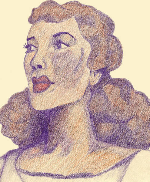 Wall Art - Drawing - Old School Hollywood by Jean Haynes
