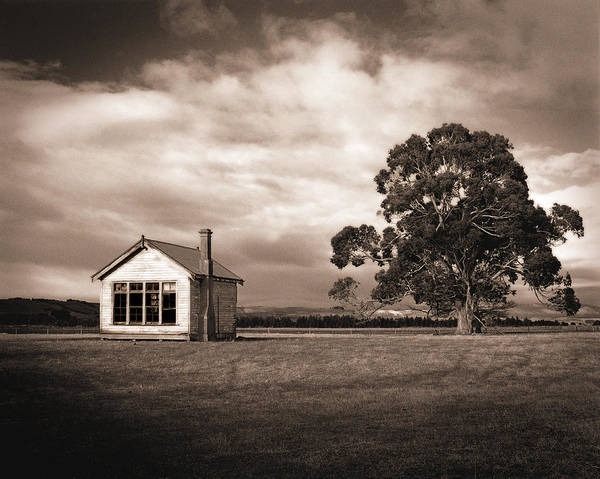 Wall Art - Photograph - Old School House, Otahu Flat, New Zealand by Maggie McCall