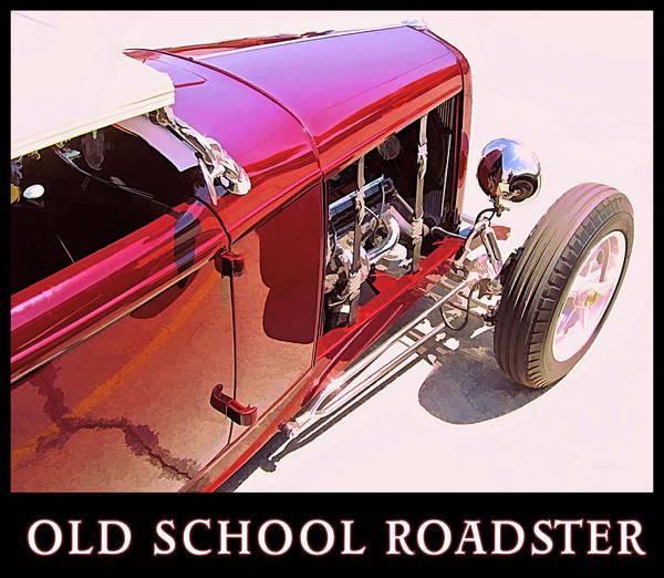Digital Art - Old School Roadster Title by David King