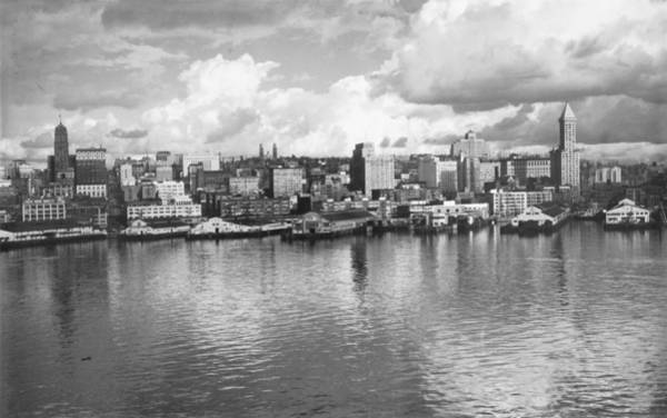 Wall Art - Photograph - Old Seattle 1949 by USACE-Public Domain