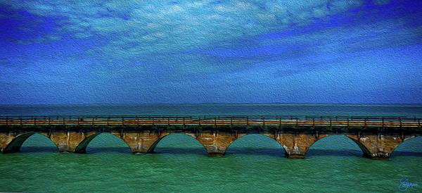 Flagler Photograph - Old Seven Mile Bridge In Florida by Jennifer Stackpole