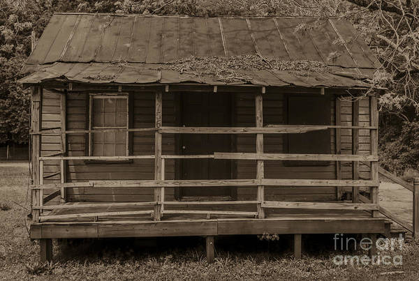 Photograph - Old Shack In Sepia by Dale Powell