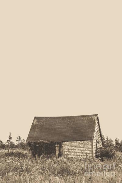 Photograph - Old Shingled Farm Shack by Edward Fielding