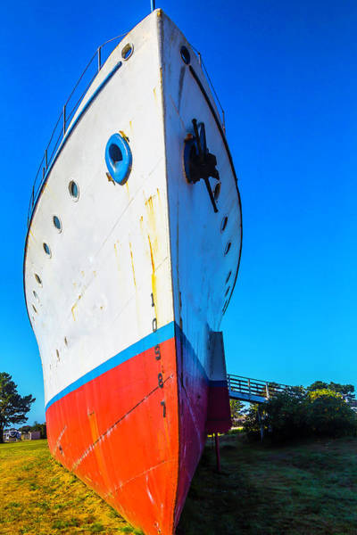 Dry Dock Photograph - Old Ship Bow by Garry Gay