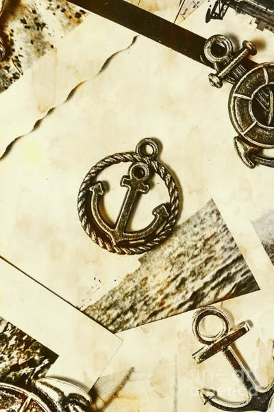 Sail Boat Photograph - Old Shipping Emblem by Jorgo Photography - Wall Art Gallery