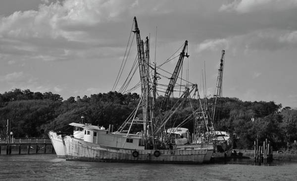 Photograph - Old Shrimp Boats by Cynthia Guinn