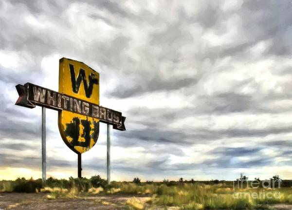 Photograph - Old Sign On Route 66 by Mel Steinhauer
