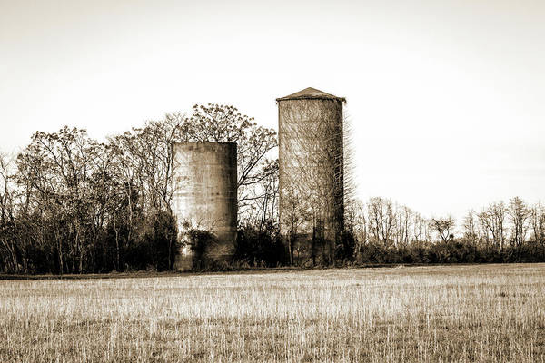 Photograph - Old Silos by Barry Jones