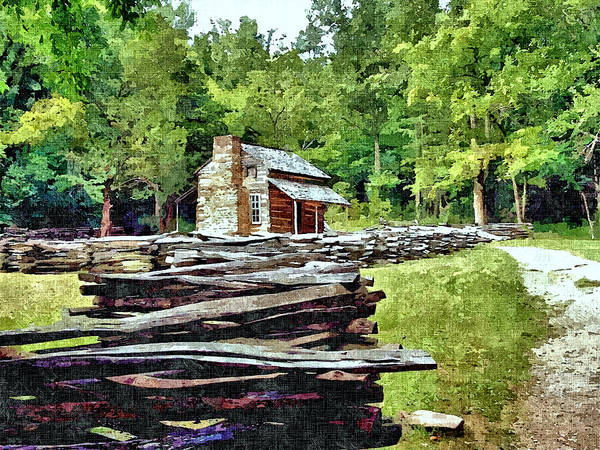 John Oliver Cabin Photograph - Old Smoky Mountain Homestead by John Trommer