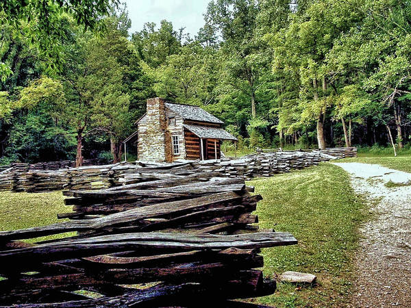 John Oliver Cabin Photograph - Smoky Mountain Homstead In Cades Cove 1 by John Trommer
