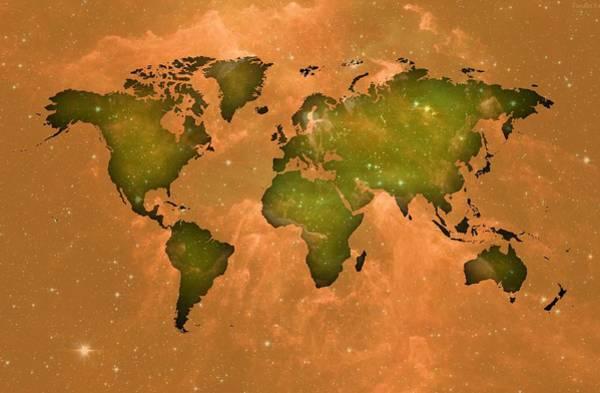 Digital Art - Old Space In The Worldmap by Alberto RuiZ