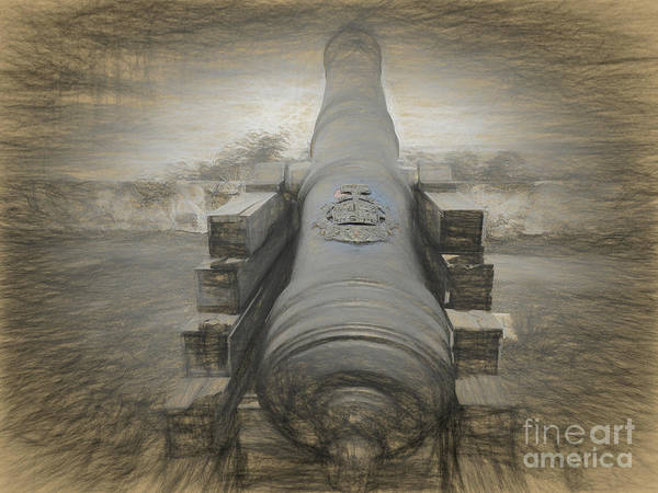 Mount Soledad Wall Art - Photograph - Old Spanish Cannon by Scott Cameron