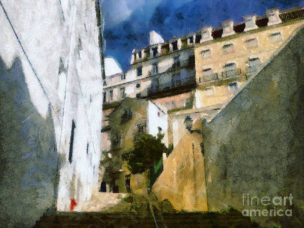 Painting - Old Stairs In Lisbon by Dimitar Hristov
