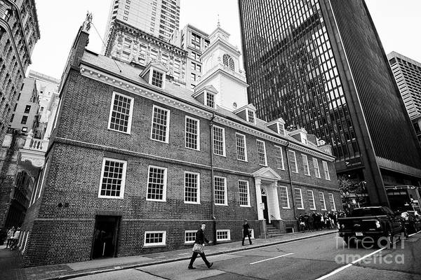 Wall Art - Photograph - old state house building Boston USA by Joe Fox