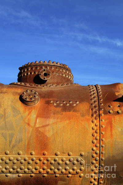 Photograph - Old Steam Engine Boiler Detail by James Brunker