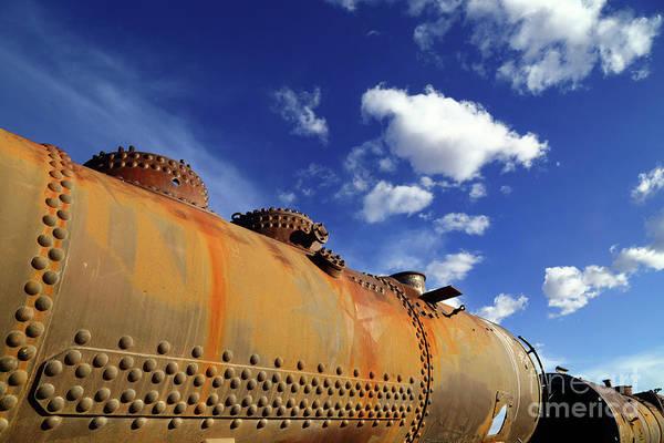 Photograph - Old Steam Train Boiler by James Brunker
