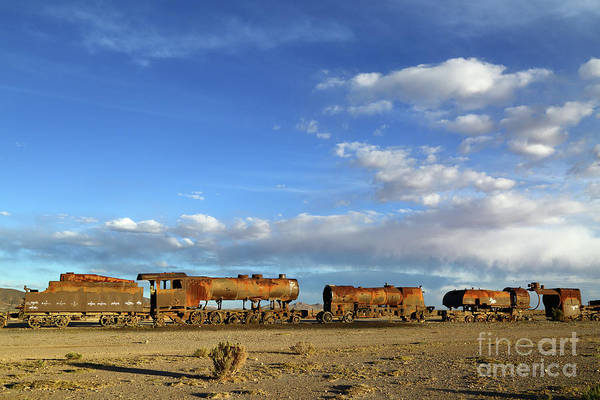Photograph - Old Steam Trains And Big Skies Bolivia by James Brunker