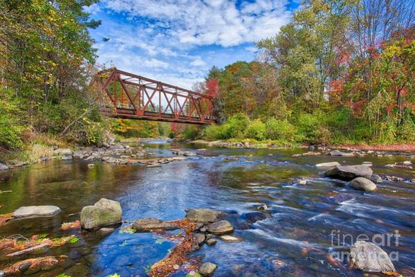 Wall Art - Photograph - Old Steel Truss Train Bridge Newport New Hampshire by Edward Fielding