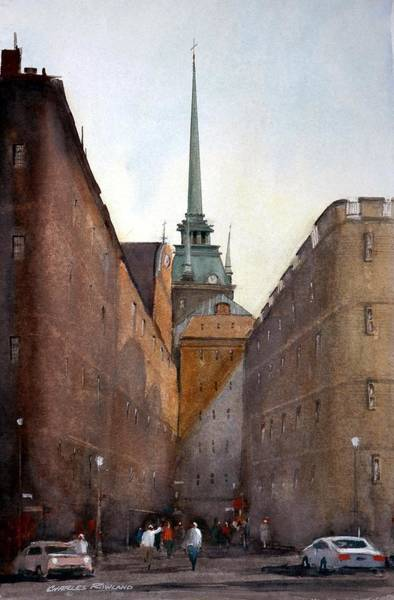 Painting - Old Stockholm by Charles Rowland