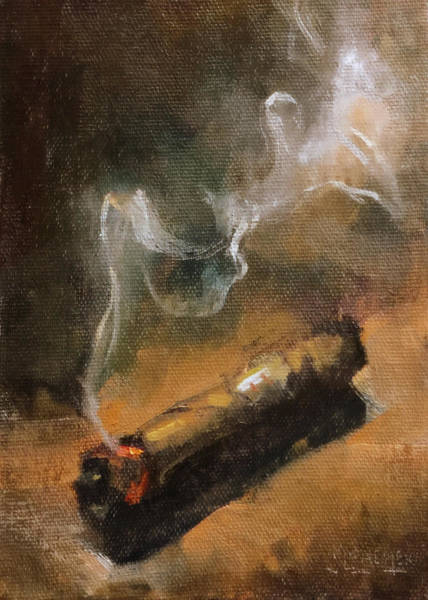 Spencer Shops Painting - Old Stogie by Spencer Meagher