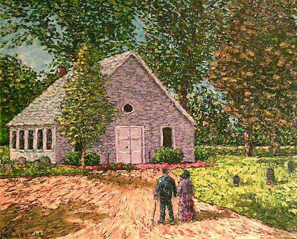 Church Yard Painting - Old Stome Church by Frank Morrison