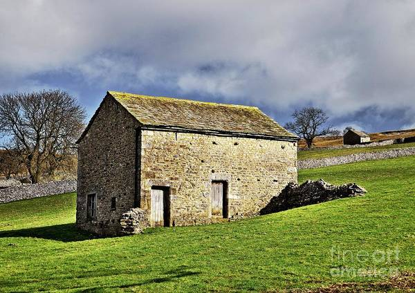 Photograph - Old Stone Barns by Martyn Arnold