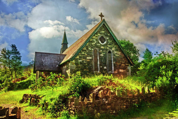Photograph - Old Stone Church by Debra and Dave Vanderlaan