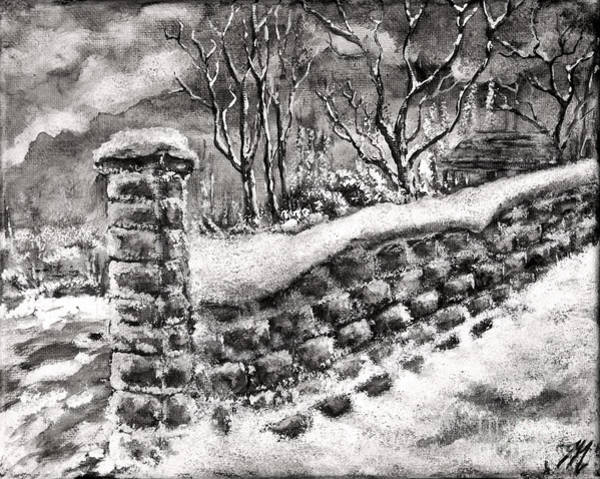 Painting - Old Stone Wall by Tim Musick