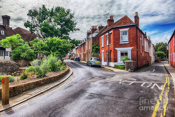 Photograph - old street in living area in Canterbury by Ariadna De Raadt
