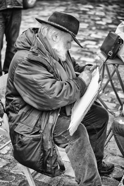 Wall Art - Photograph - Old Street Painter by Pablo Lopez