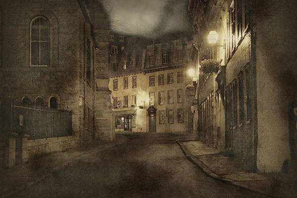 Quebec City Digital Art - Old Street by Sue Connor