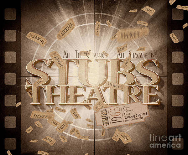 Show Business Wall Art - Digital Art - Old Stubs Theatre Advert by Jorgo Photography - Wall Art Gallery