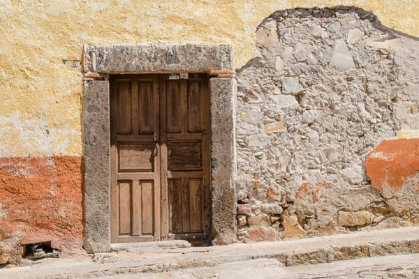 Photograph - Old Stucco And A Door by Rob Huntley