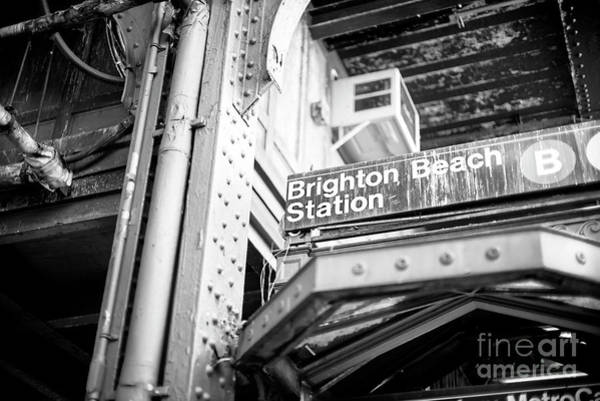 Photograph - Old Subway Station At Brighton Beach by John Rizzuto