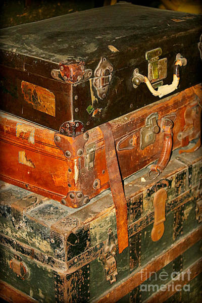 Photograph - Old Suitcases by Carol Groenen