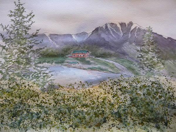 Old Susitna Lodge Art Print