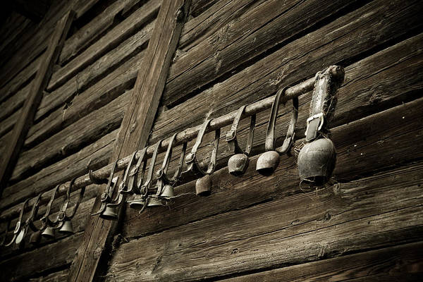 Antic Photograph - Old Swiss Cowbells by Frank Tschakert