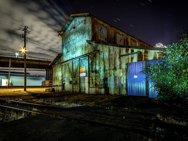 Photograph - Old Tacoma Industrial Building Light Painted by Rob Green