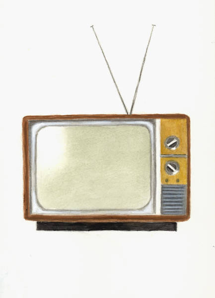 Communication Painting - Old Television Set by Michael Vigliotti