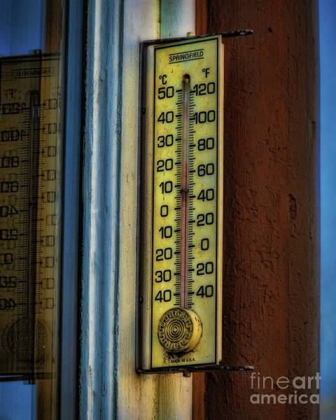 Photograph - Old Thermometer by Jon Burch Photography