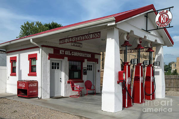 Wall Art - Photograph - Old Time Gas Station by Rick Mann