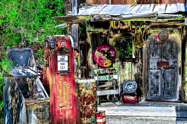 Photograph - Old Time Gas Station by William Norton