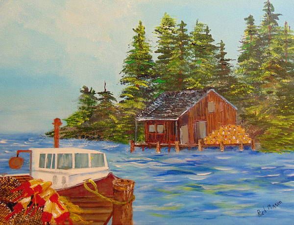 Wall Art - Painting - Old Time Lobstering by Rich Mason