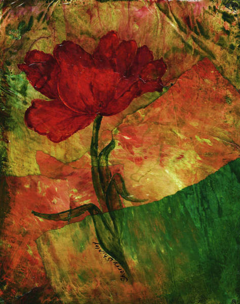 Painting - Old Time Tulip by Sherry Shipley