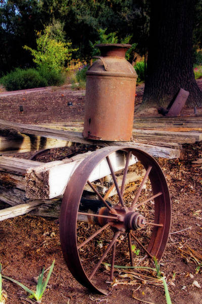 Wagon Wheel Digital Art - Old Time Wagon by Terry Davis