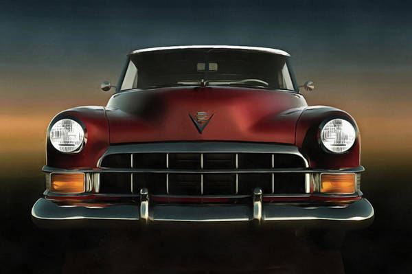 Painting - Old-timer Cadillac Convertible by Jan Keteleer