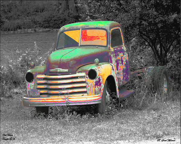 Rusty Truck Digital Art - Old Timer by Robert Meanor